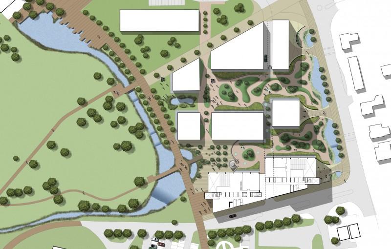 Alder Hay Childrens Hospital re-development Competition Landscape Masterplan