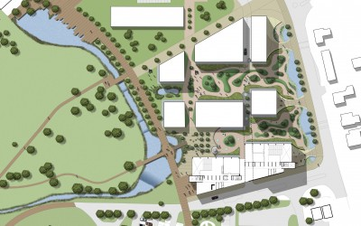 Alder Hay Childrens Hospital re-development Competition Landscape Masterplan