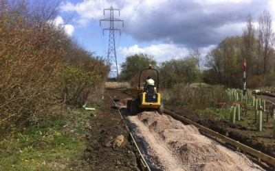 Banbury Wildmere path excavation and planting