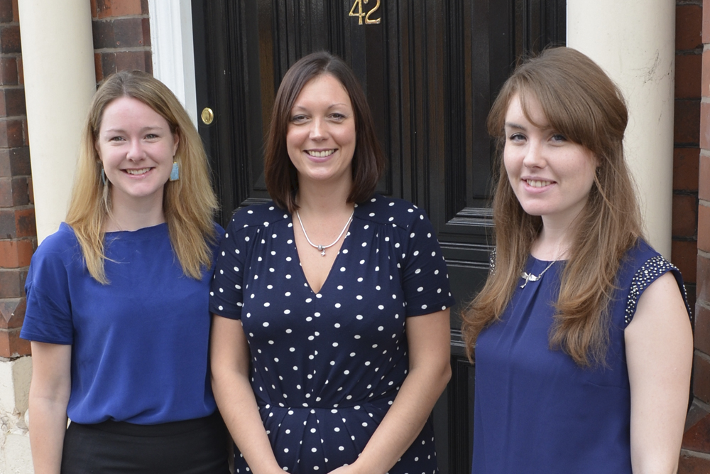 from the left, Chantelle Martin, Andrea Davies and Laura Mason