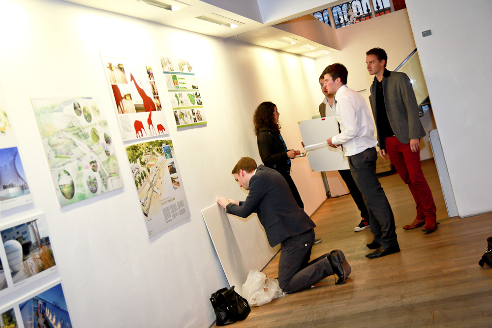 North West practices exhibiting work alongside the students.